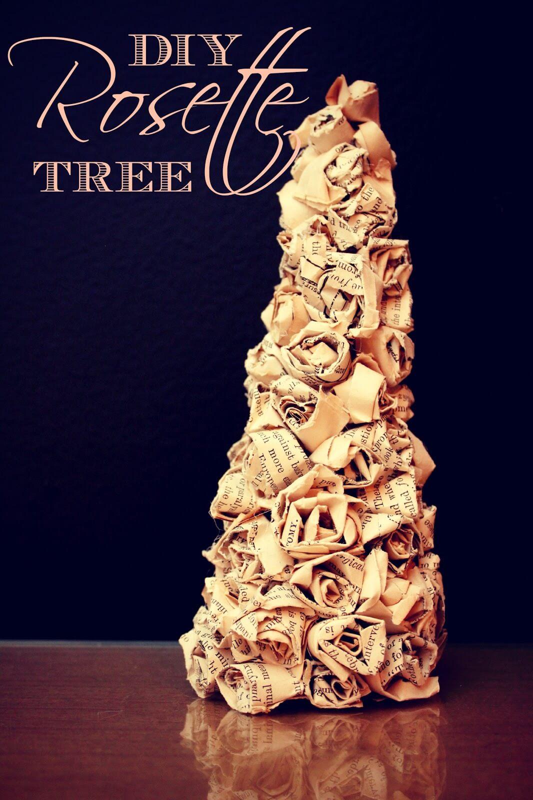 Romantic DIY Rosette Craft Tree