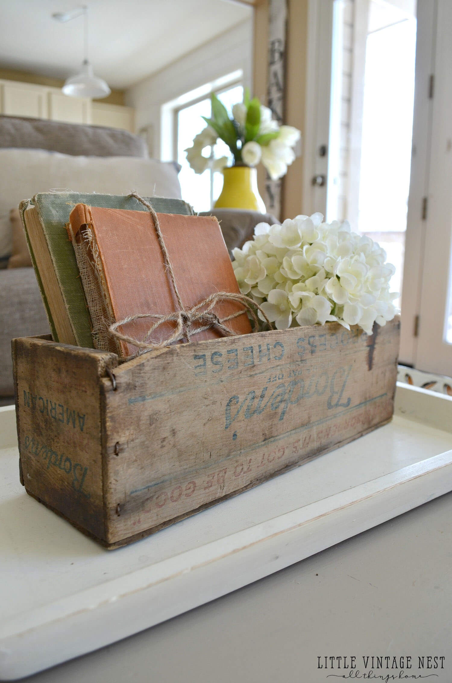 Cheese Box Book Holder Idea
