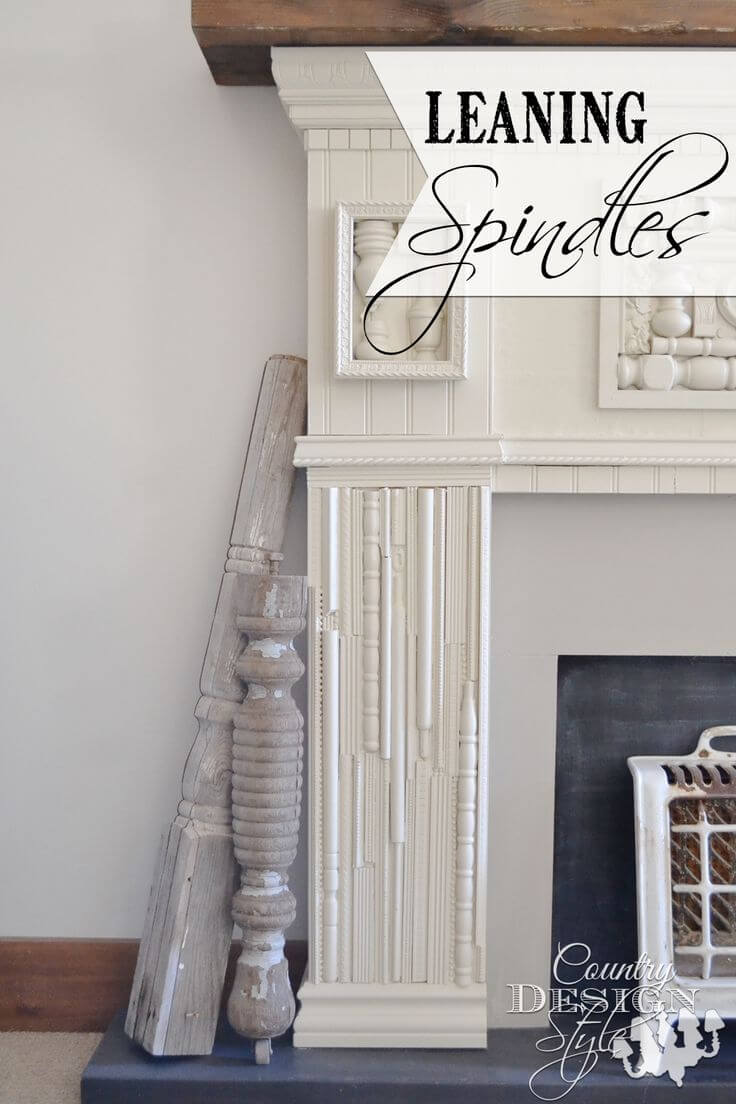 Decorative Distressed Spindle Accent Pieces