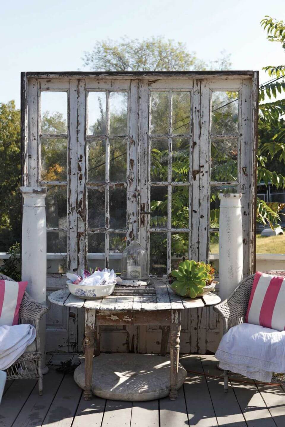 Architectural Salvage French Door Backdrop