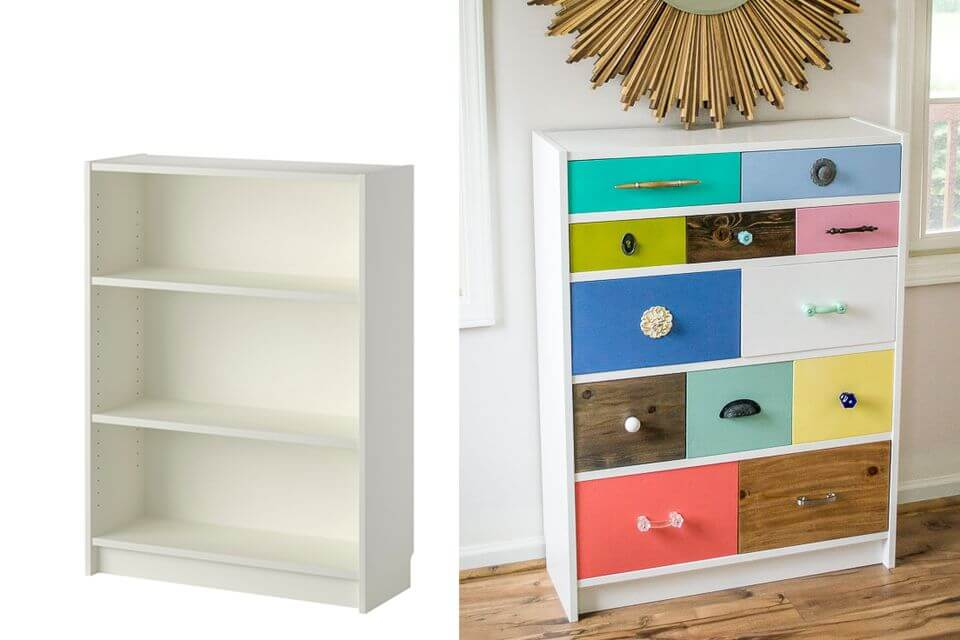 Creative Multi-Colored Shelving Unit