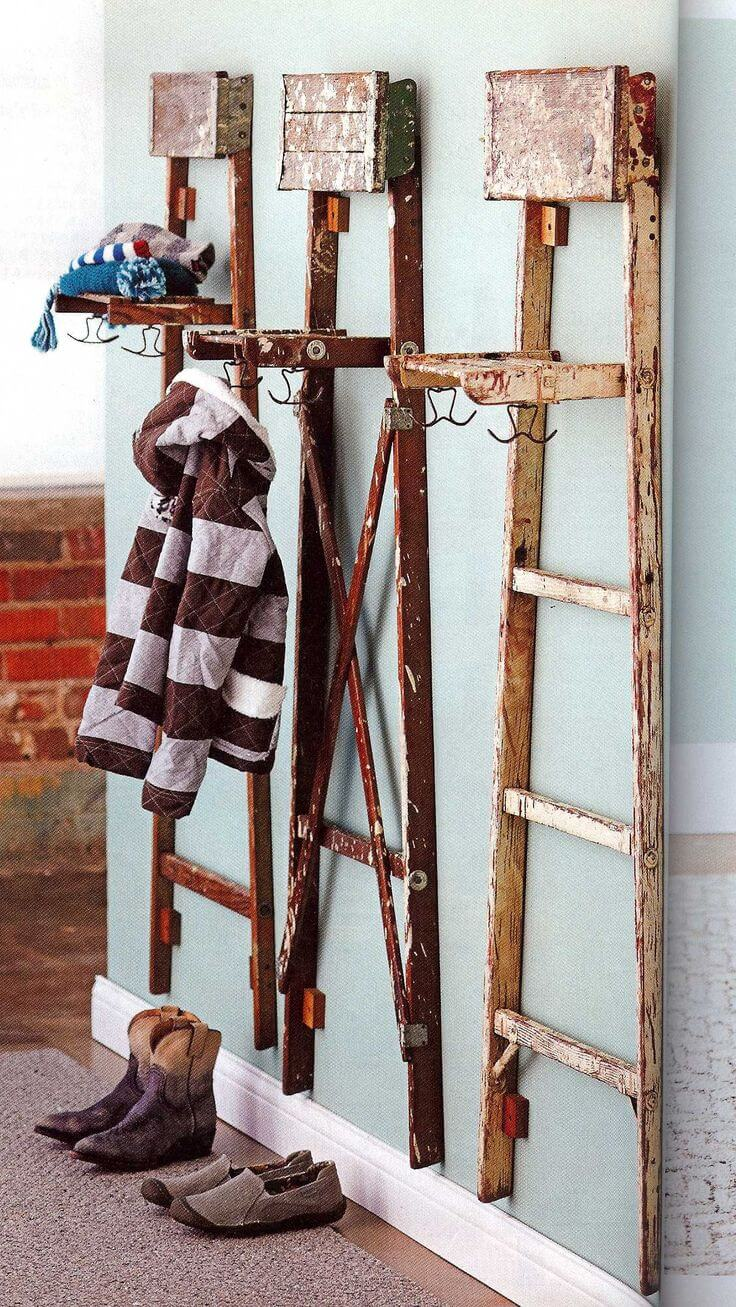 36 Best Repurposed Old Ladder Ideas And Designs For 2020