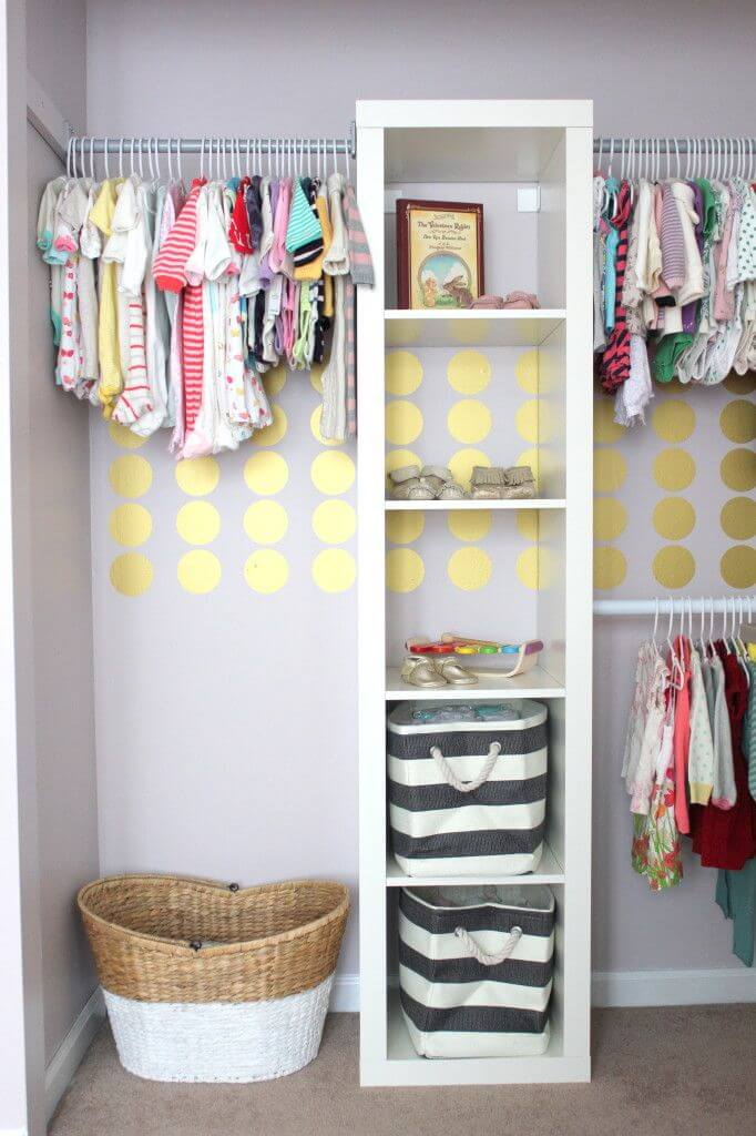 Tall and Rectangular Shelving Structure for Closet