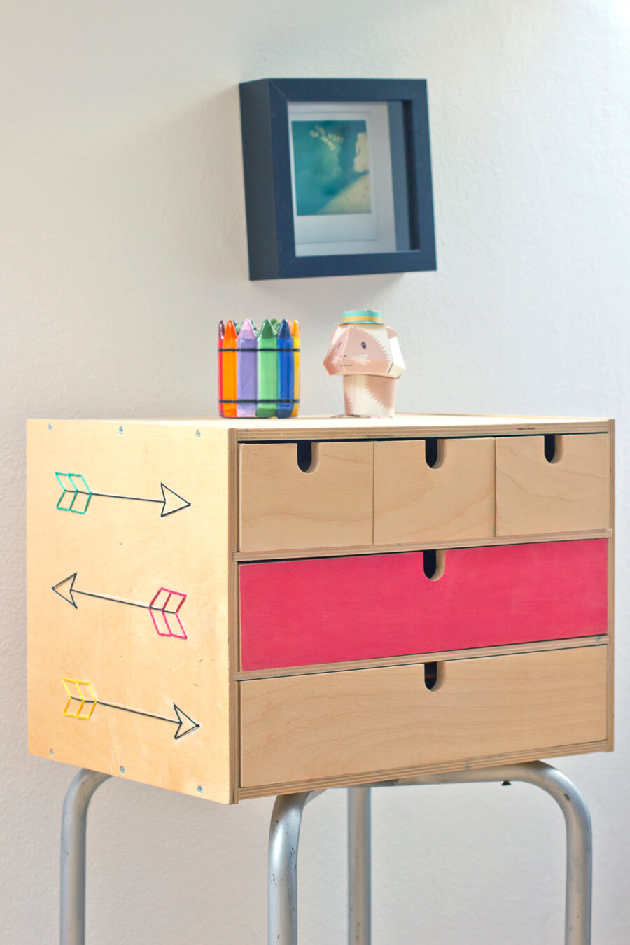 Cute and Organizational Standing Box with Drawers