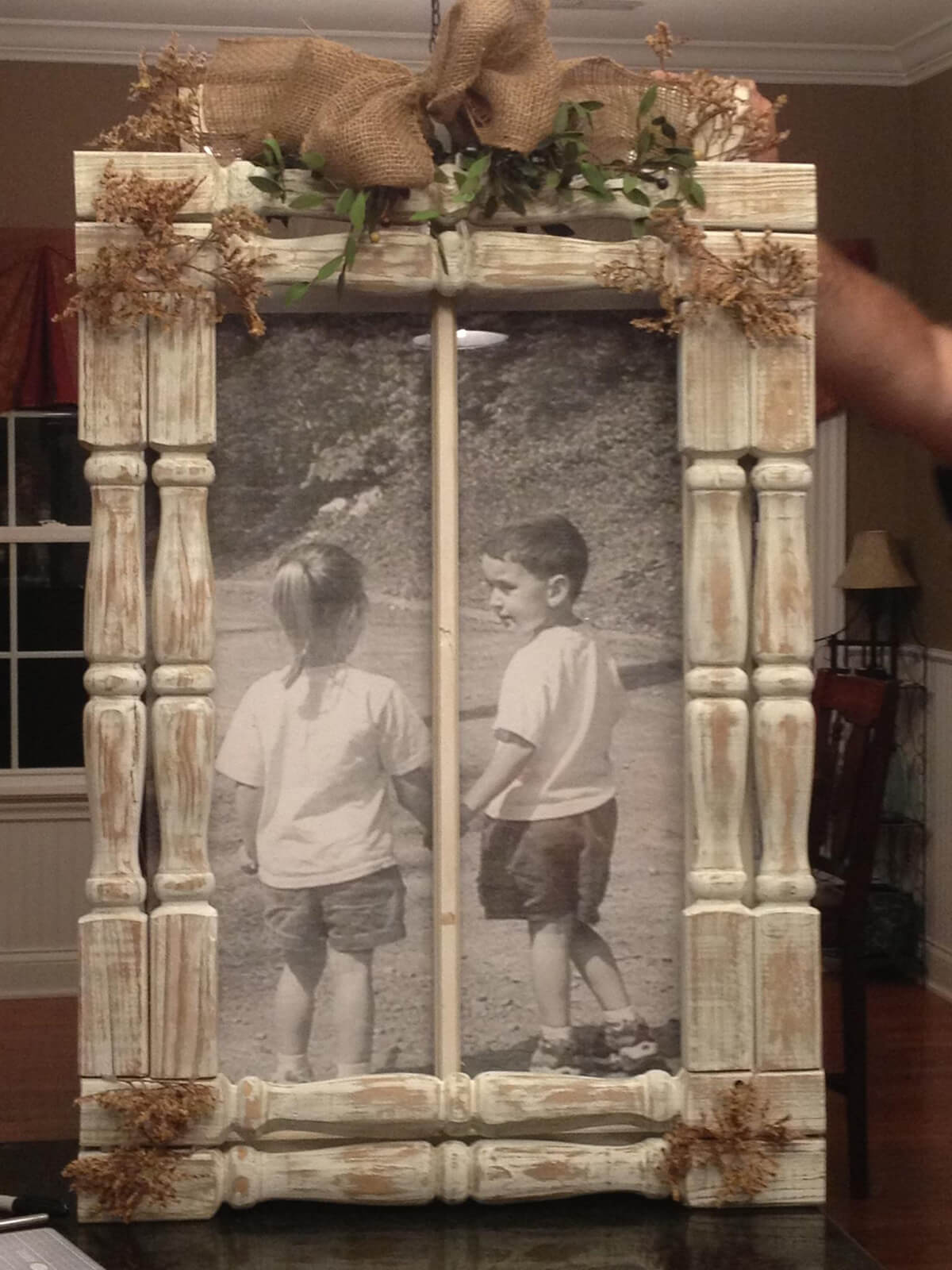 Thinking of You Repurposed Wood Picture Frame