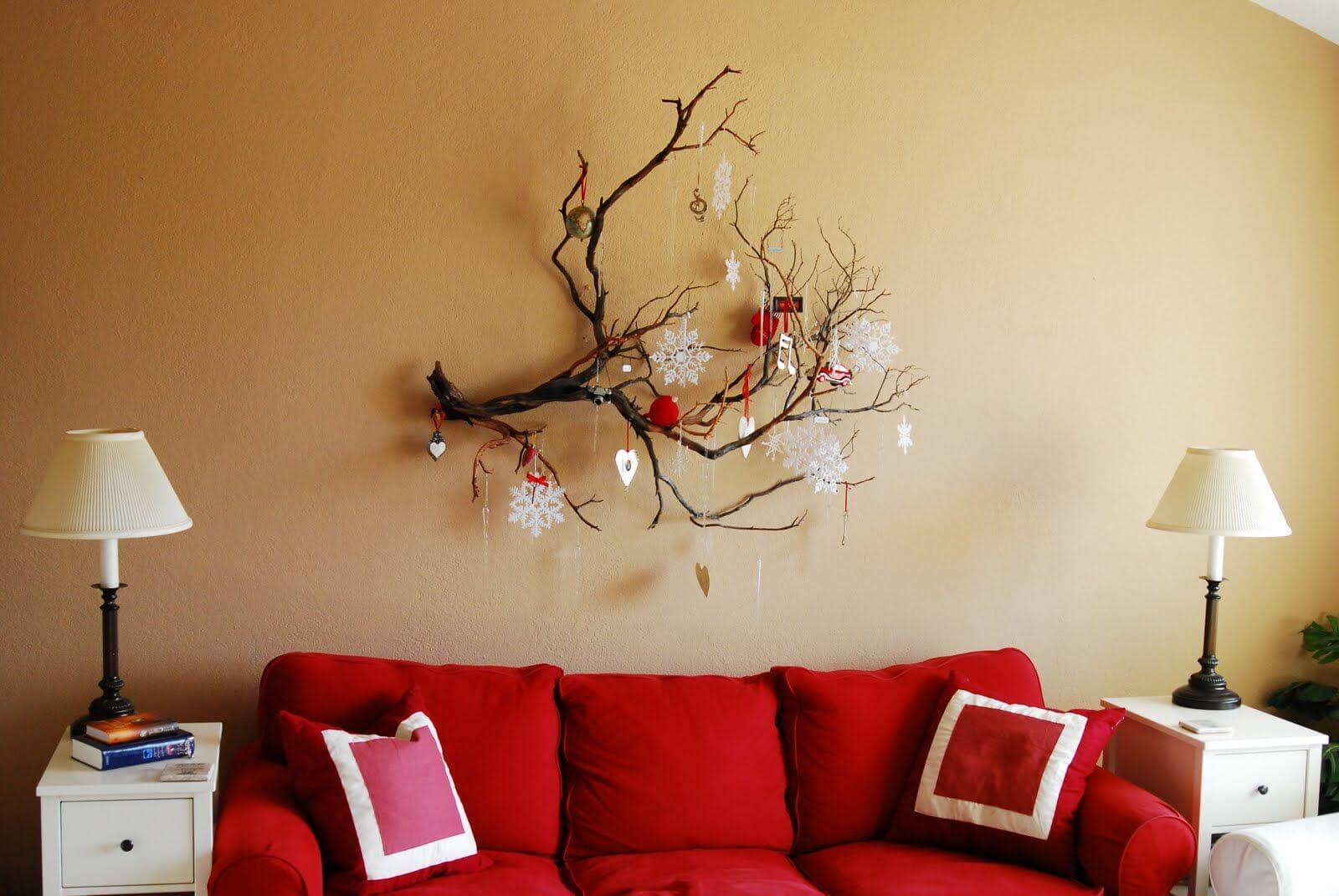 ordinary Home Wall Decor Ideas Part - 19: Old Tree Branch Decorative Wall Hanging