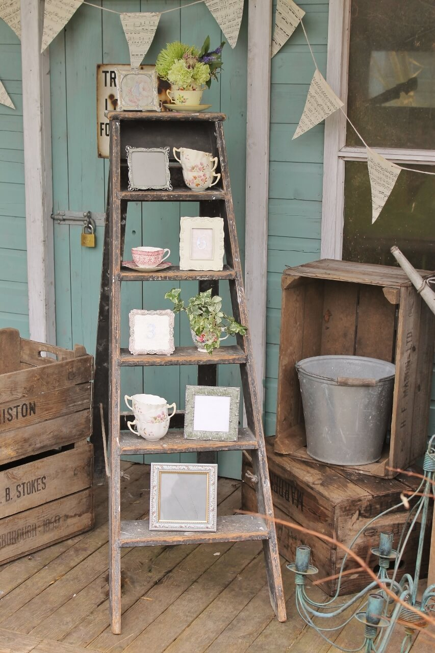 Tea Party Ladder Shelf & Pennant Garland