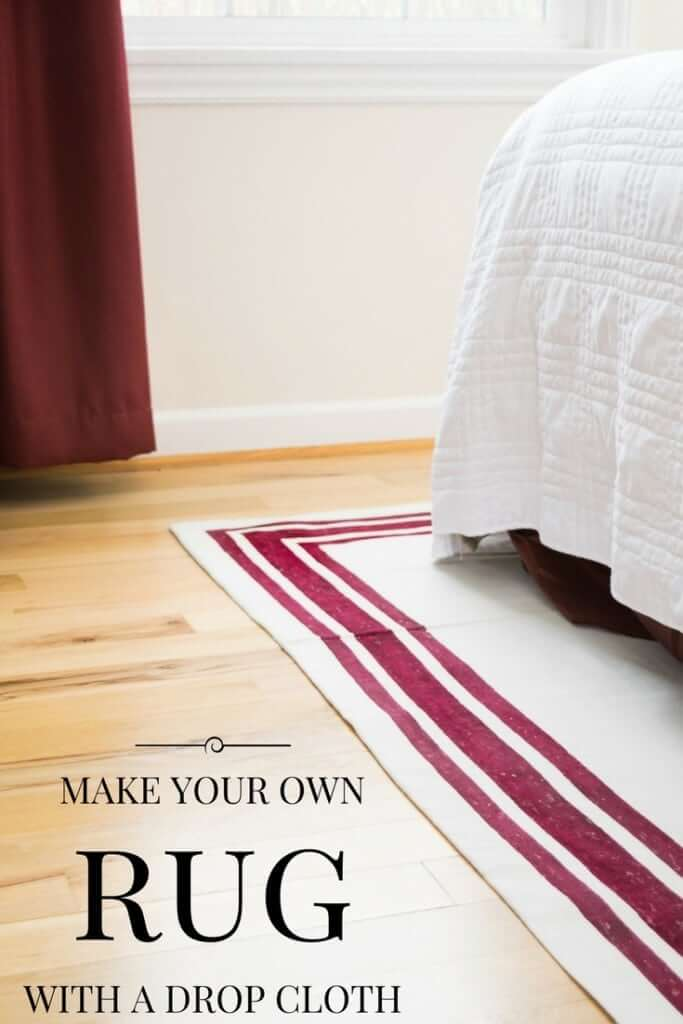 Drop Cloth Makeover for Messy Homes