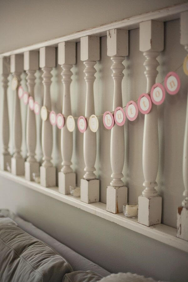 Country Chic Spindle and Rail Wall Hanging