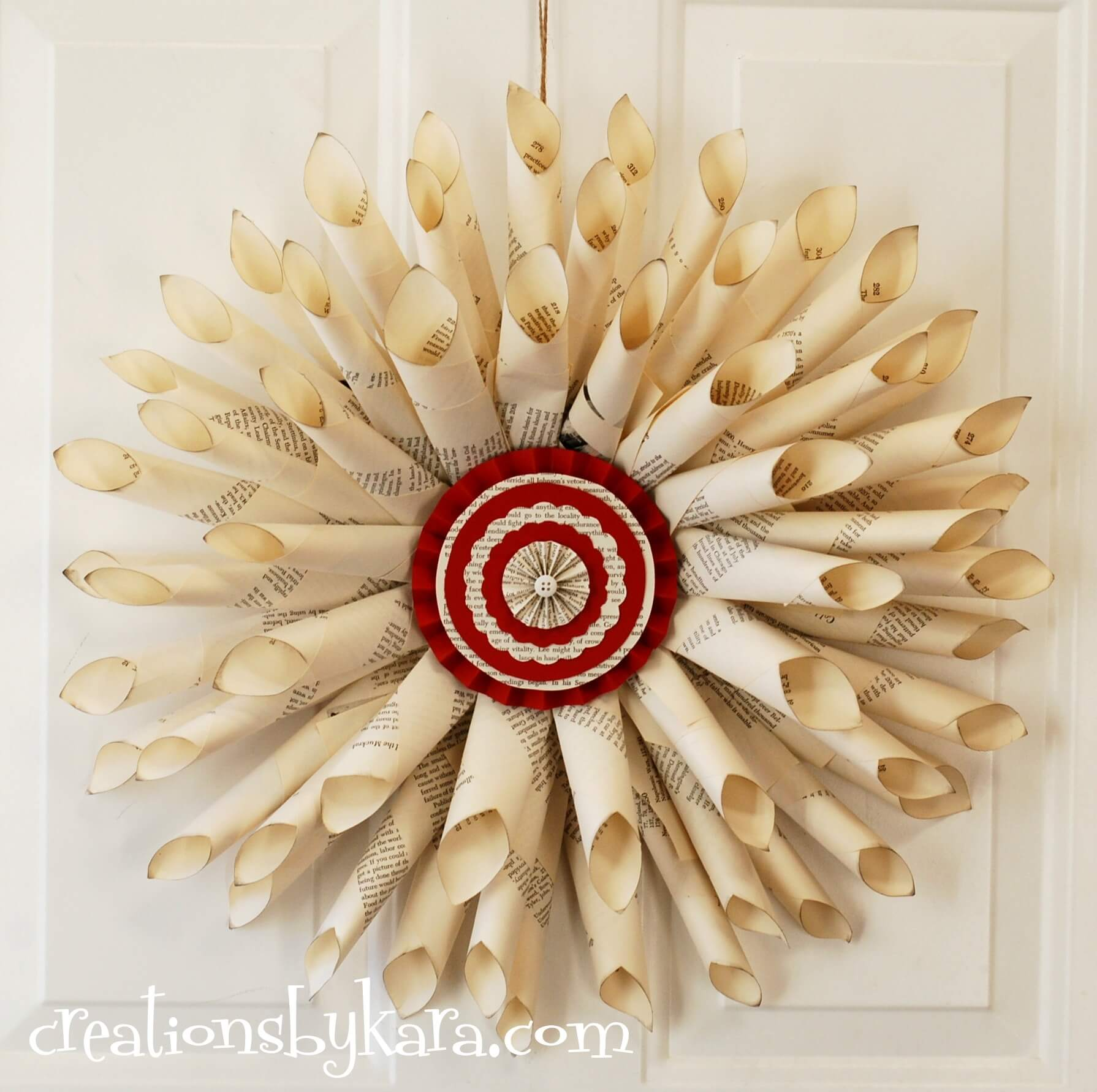 Old Fashioned Paper Cone Wreath