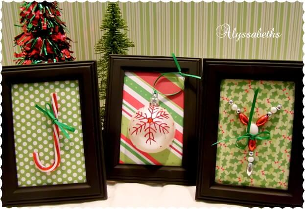 Clever Found Art Christmas Trio