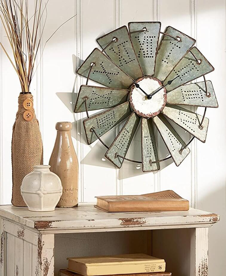 NEW FARMHOUSE COUNTRY METAL HANGING  WINDMILL HOME DECOR