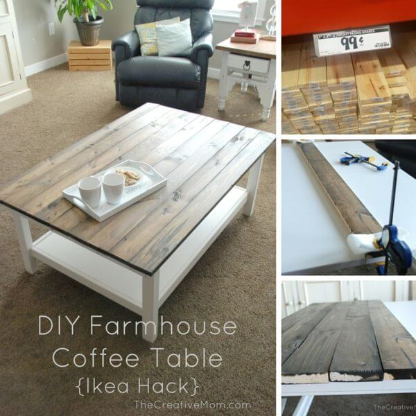 Homey DIY Coffee Table with Polished Wood
