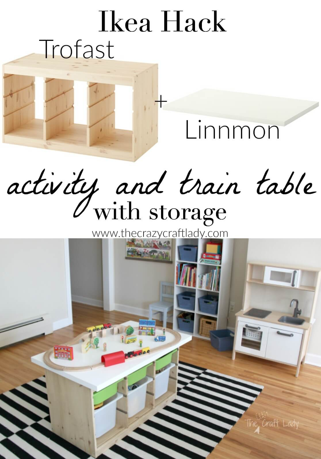 Rectangular Activity Table with Accessible Shelves