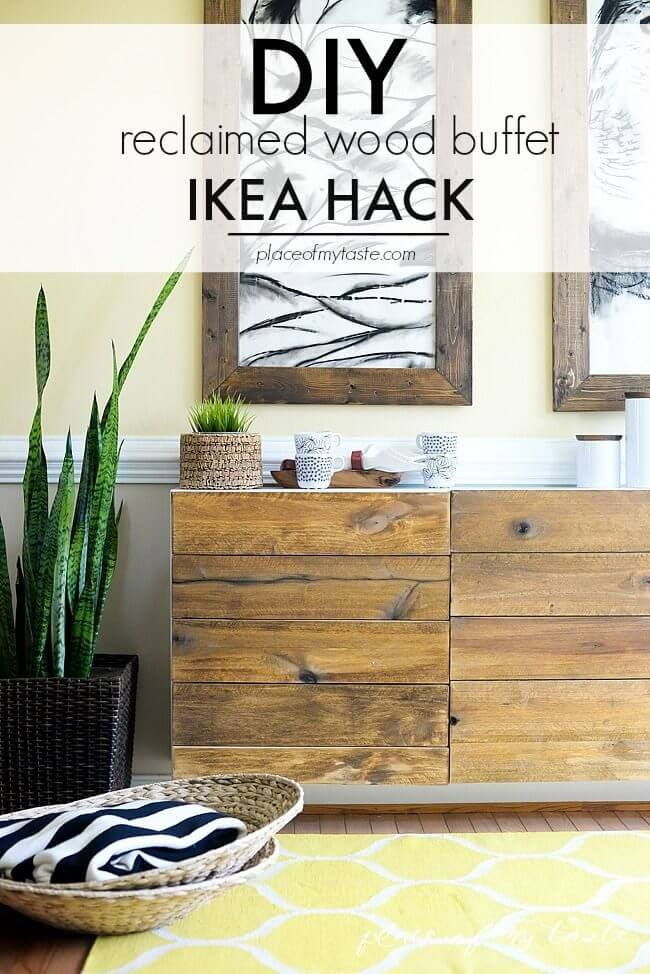 Rustic Wooden Wall Stand with Horizontal Drawers