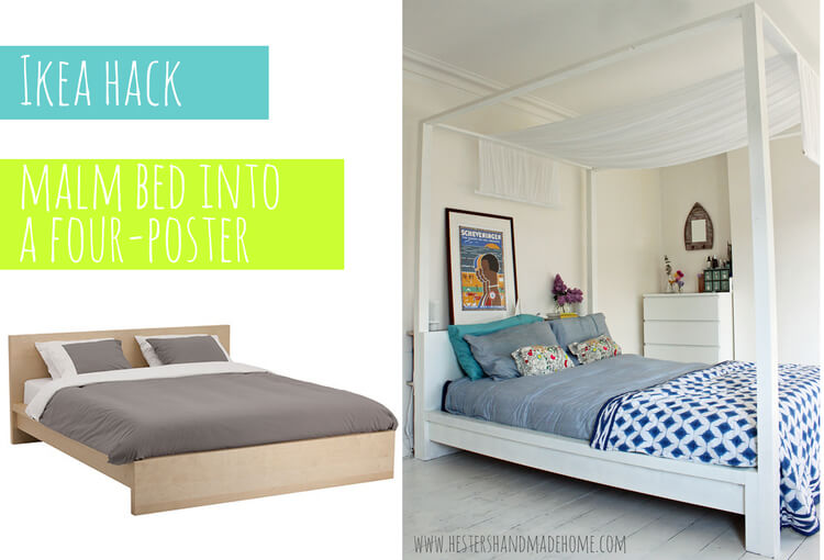 Elegant Four-Poster Bed Makeover