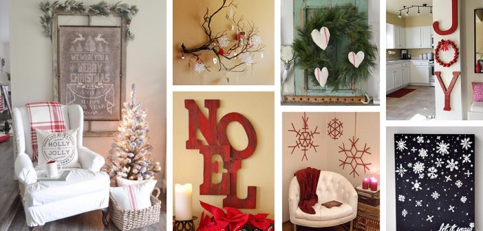 35 Best Christmas Wall Decor Ideas And Designs For 2021