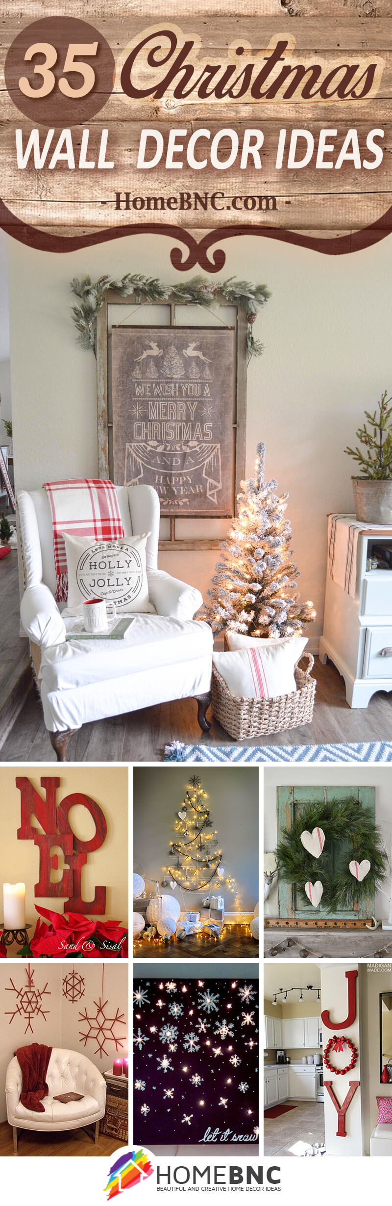 35 Best Christmas Wall Decor Ideas And Designs For 2020
