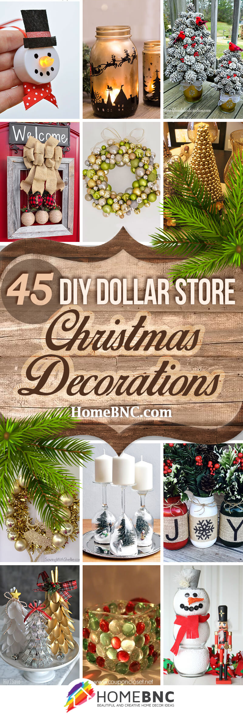 DIY Dollar Store Christmas Decorations