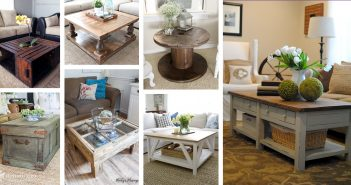 DIY Farmhouse Coffee Table Designs