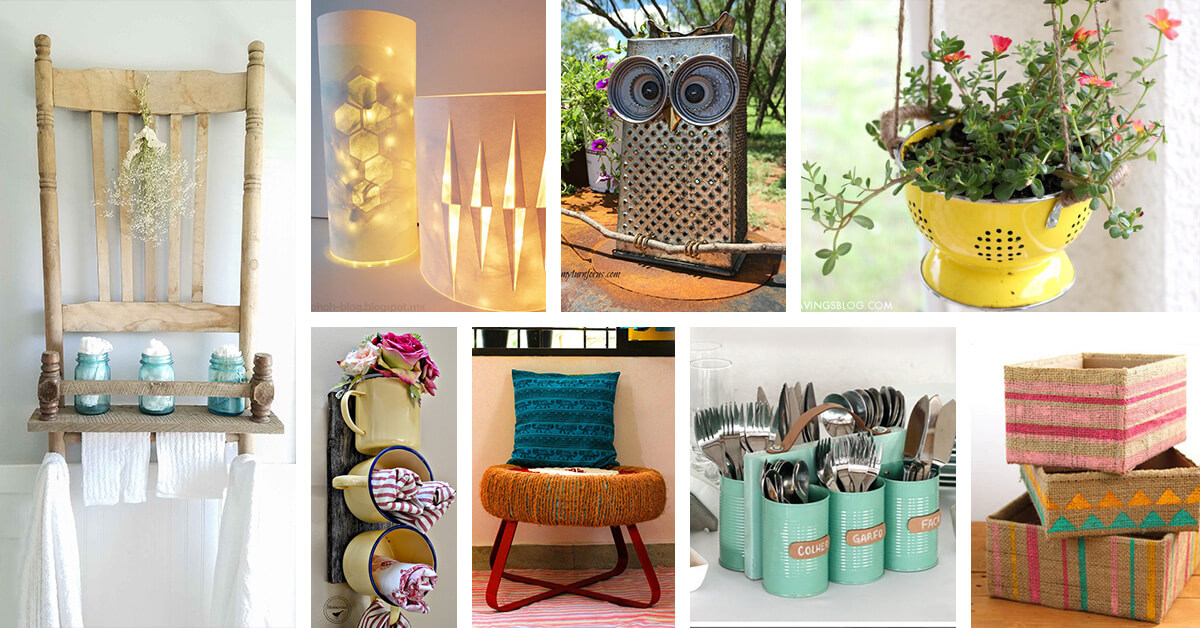 Furniture upcycling ideas Diy Homebnc 34 Best Diy Upcycled Trash Ideas And Projects For 2019