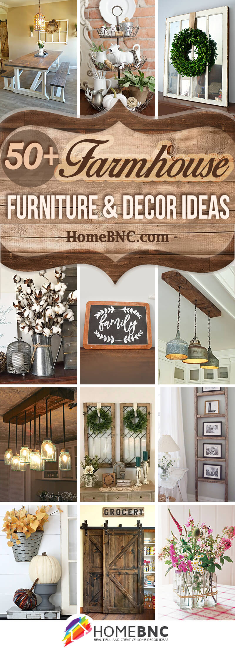 Farmhouse Furniture and Decor Ideas