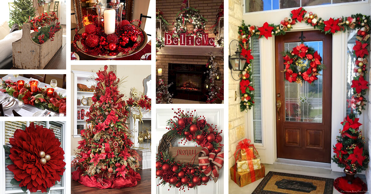 40+ Red Christmas Decor Ideas to Get Everyone into the Holiday Spirit
