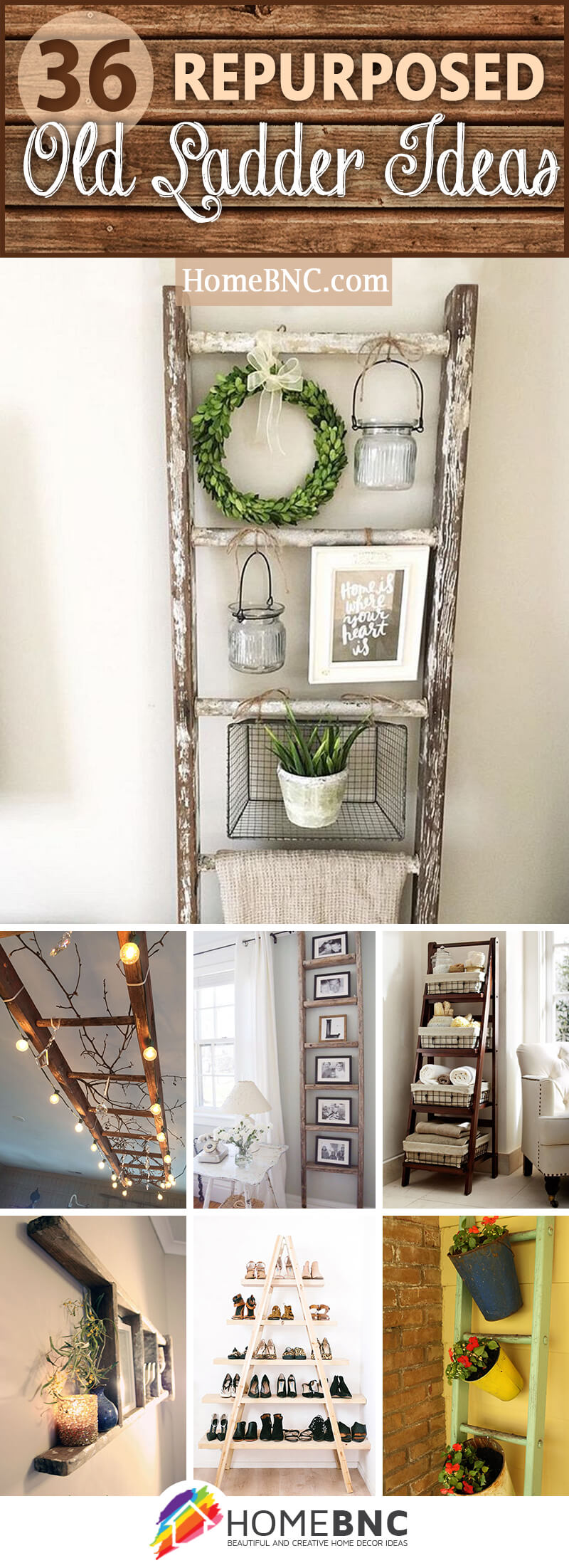 36 Best Repurposed Old Ladder Ideas and Designs for 2018