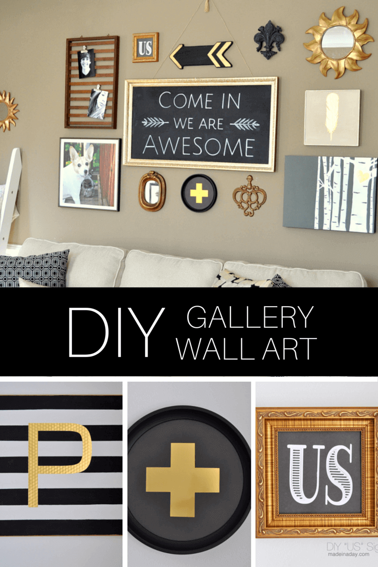 2. An Entire Gallery Of DIY Art