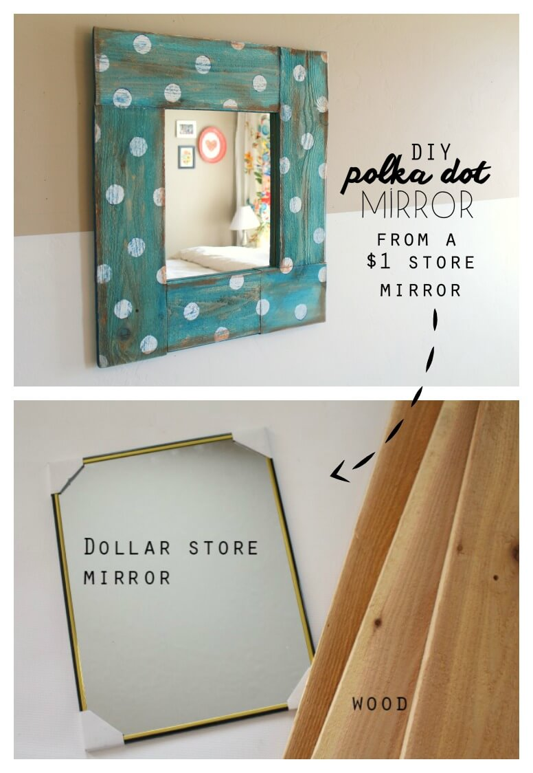 Bespoke Blue Milk Paint and Polka Dot Mirror