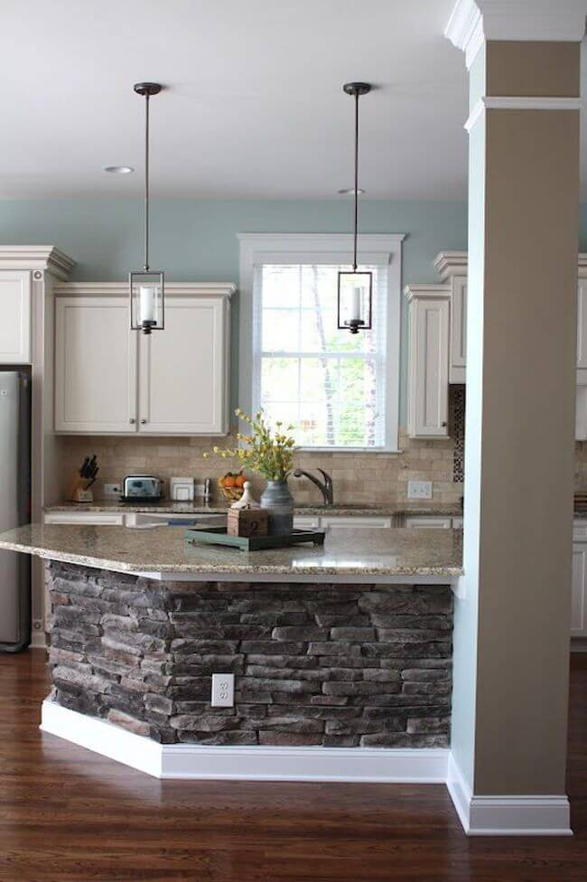 Natural Granite and Stone Brick Island