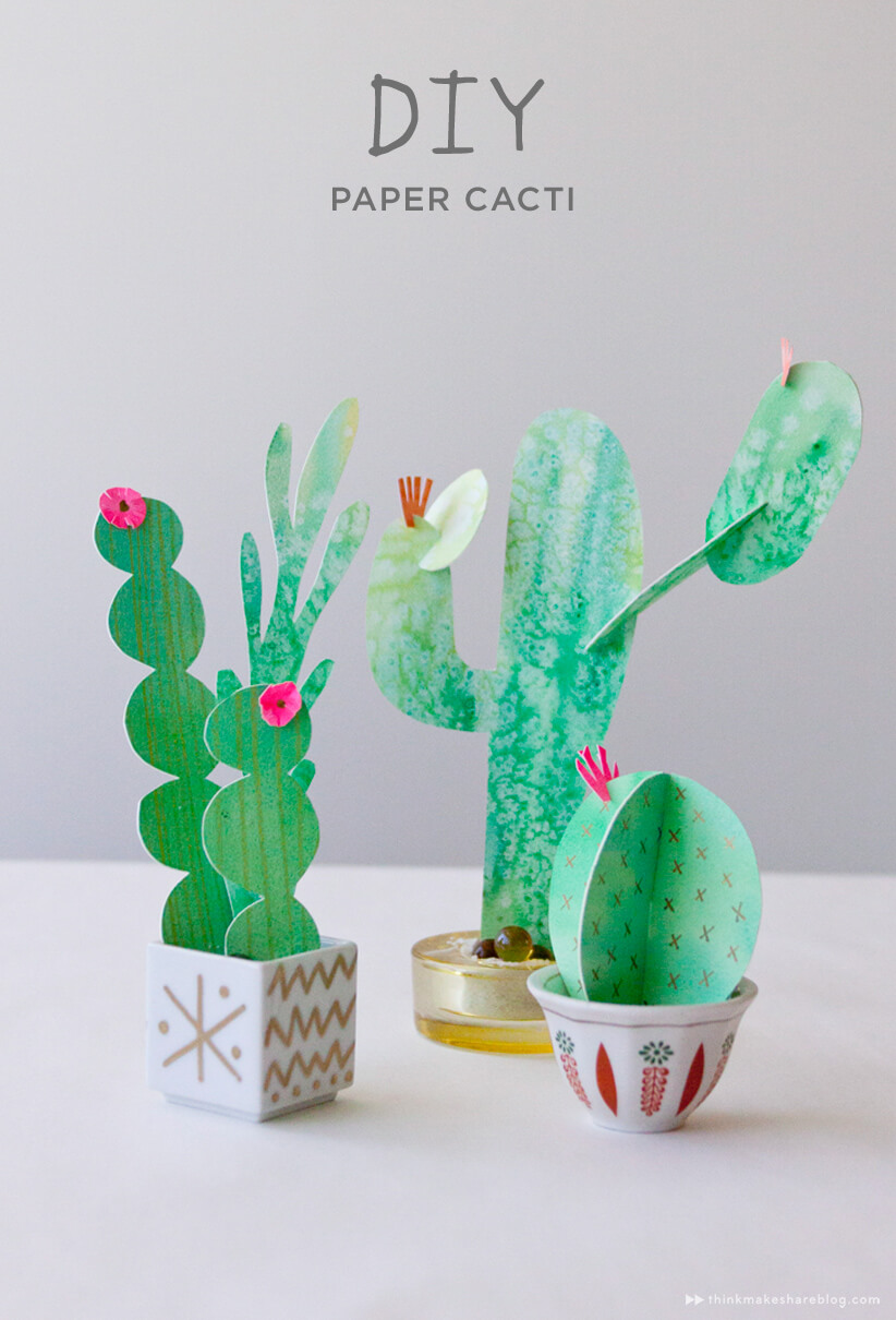 Funky DIY Paper Cacti Project
