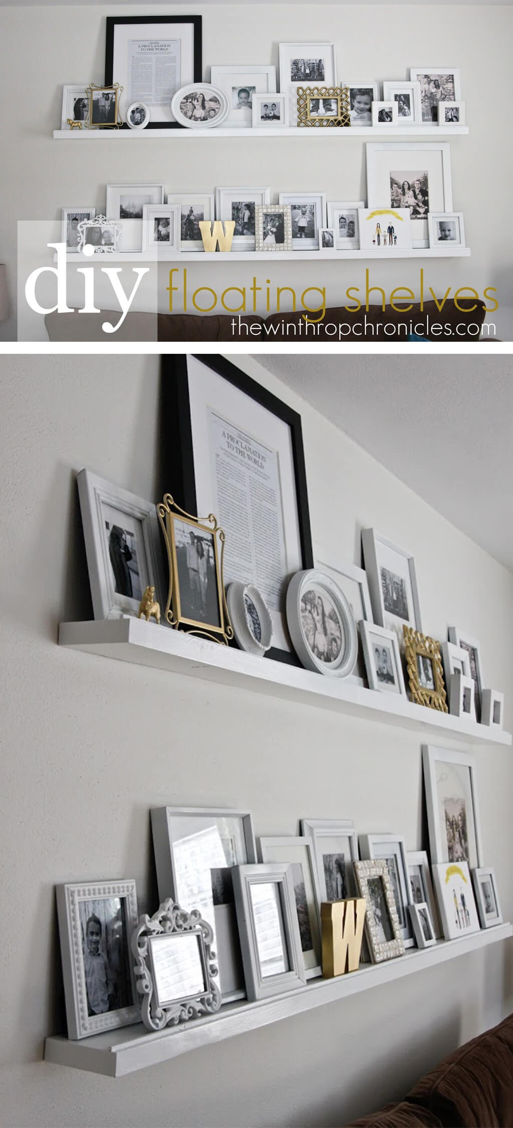 DIY Living Room Decorating Ideas With Shelves