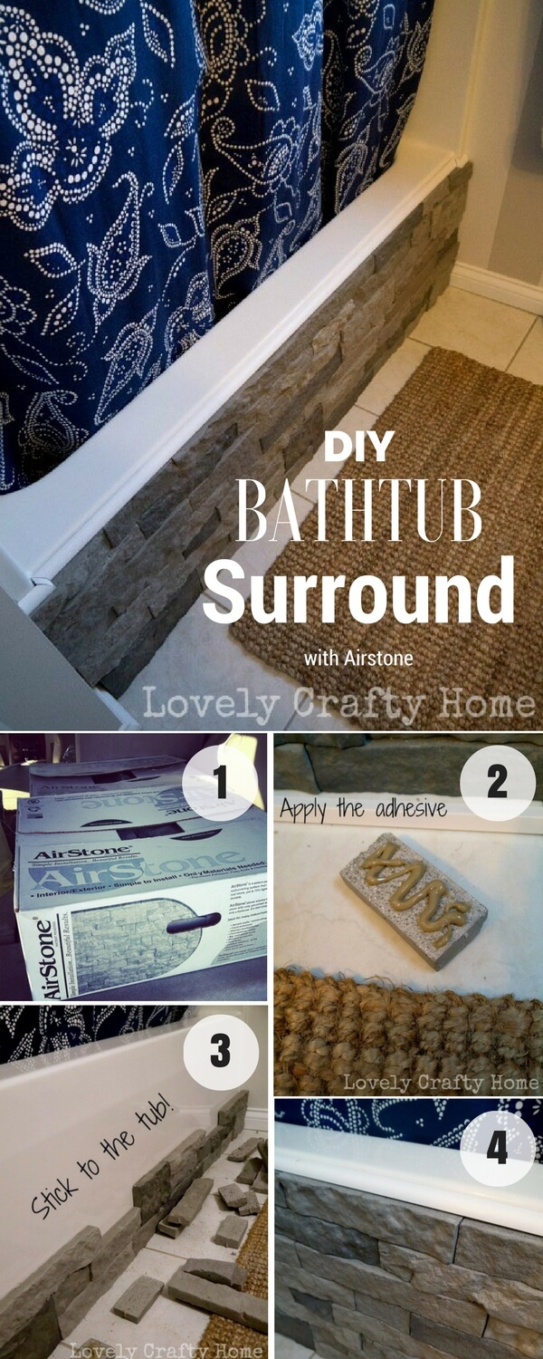 Easy DIY Stone Bathtub Surround