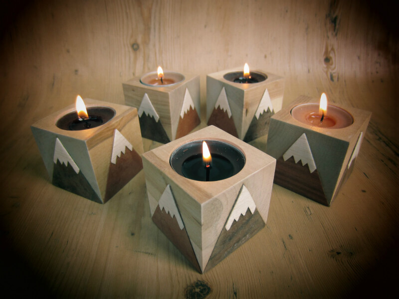 Snow Capped Mountain Candleholder Concept