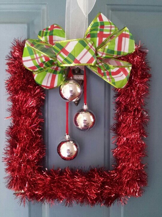 Tinsel Decorating Ideas for Doors