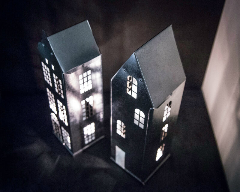 Amsterdam and Stockholm Architectural Candle Lanterns
