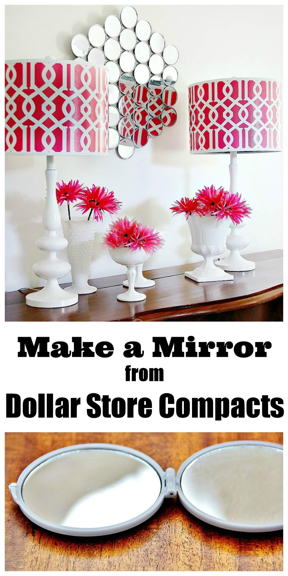 Mid-Century Modern Inspired Pocket Mirror Creation