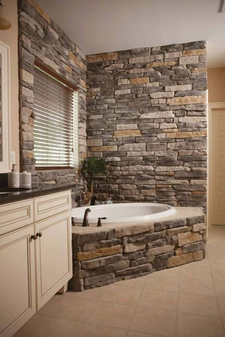33 best interior stone wall ideas and designs for 2018 for Interior wall design ideas
