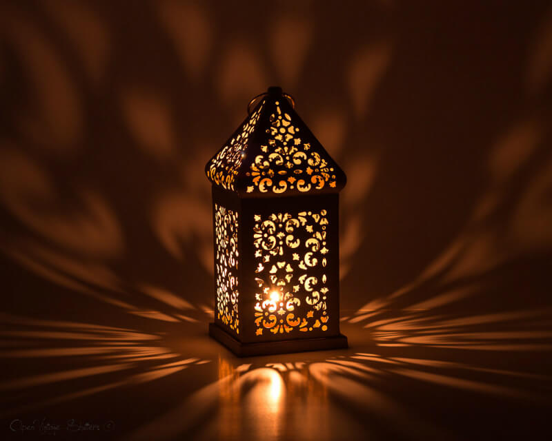 Magical Moroccan Pierced Floral Lantern