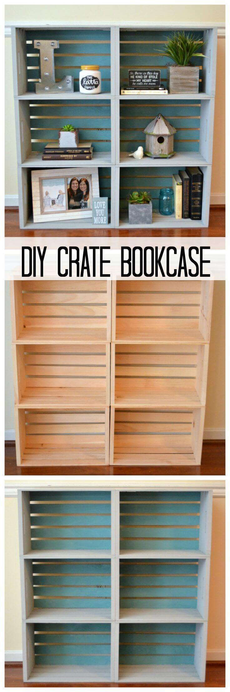 How to Build a Crate Bookcase