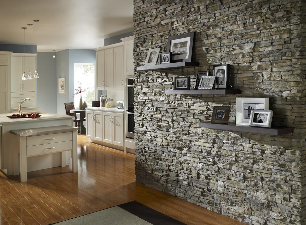 how to work stone into neutral interiors - Wall Interiors Designs