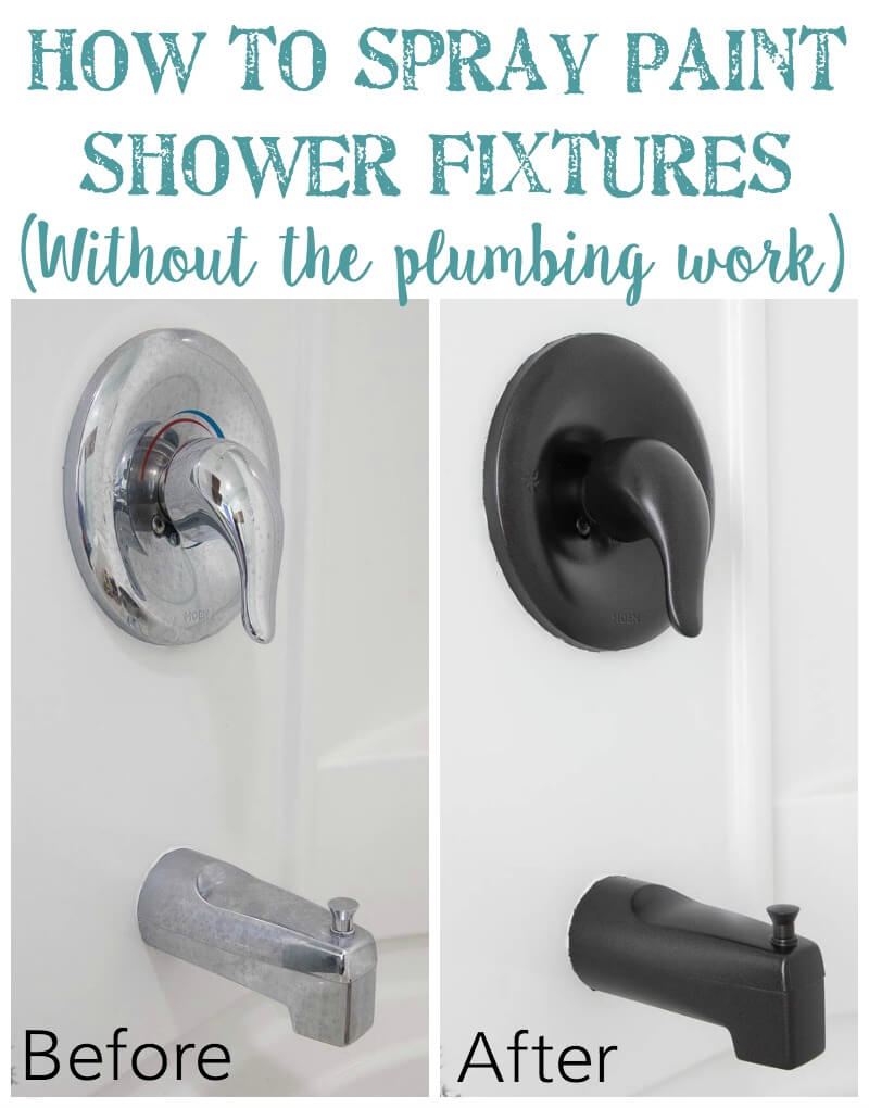 DIY Spray Painted Bathroom Fixtures