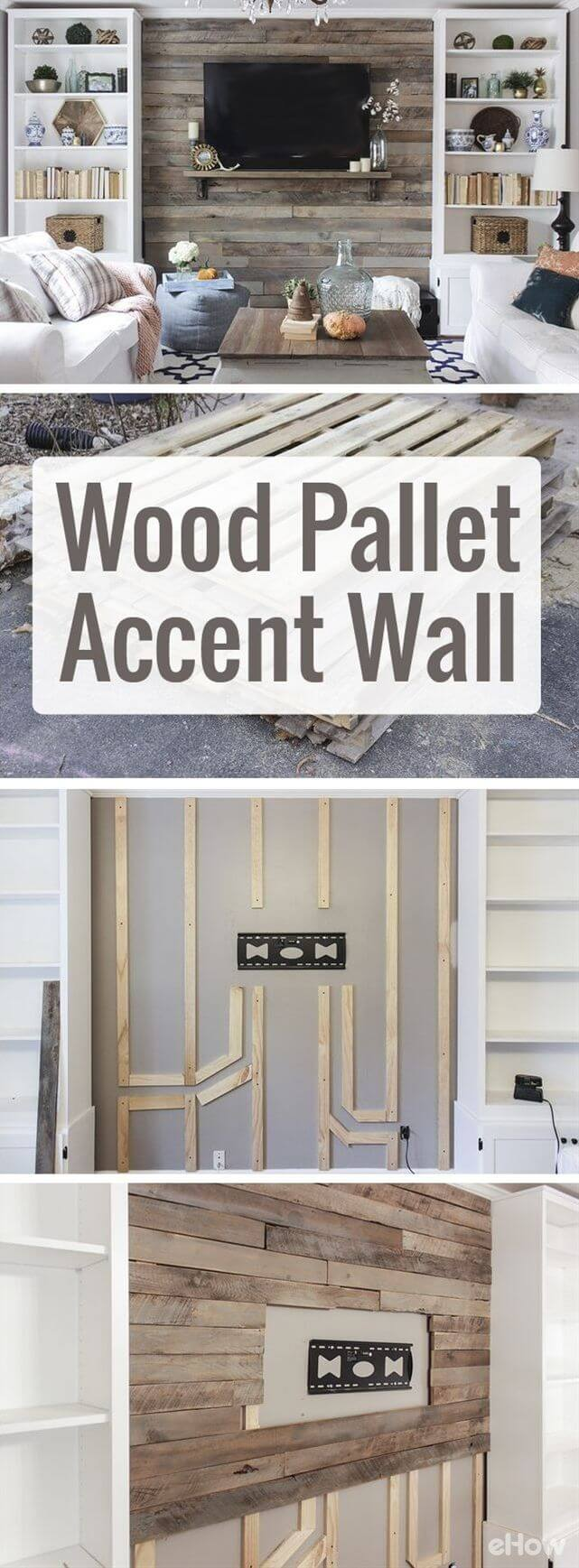 Floor to Ceiling Wood Pallet Paneling