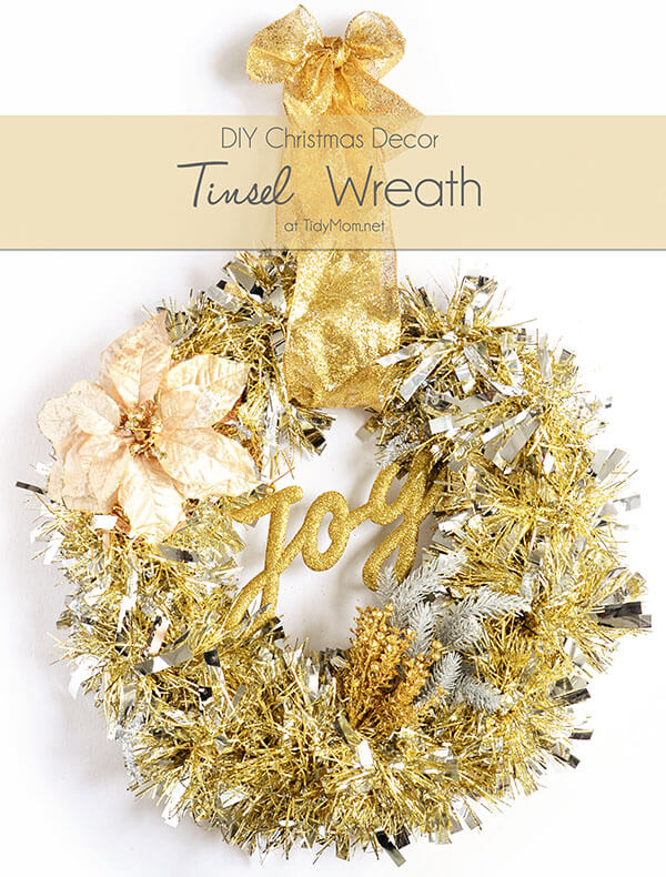 Spiky and Sparkly Mixed Metals Wreath