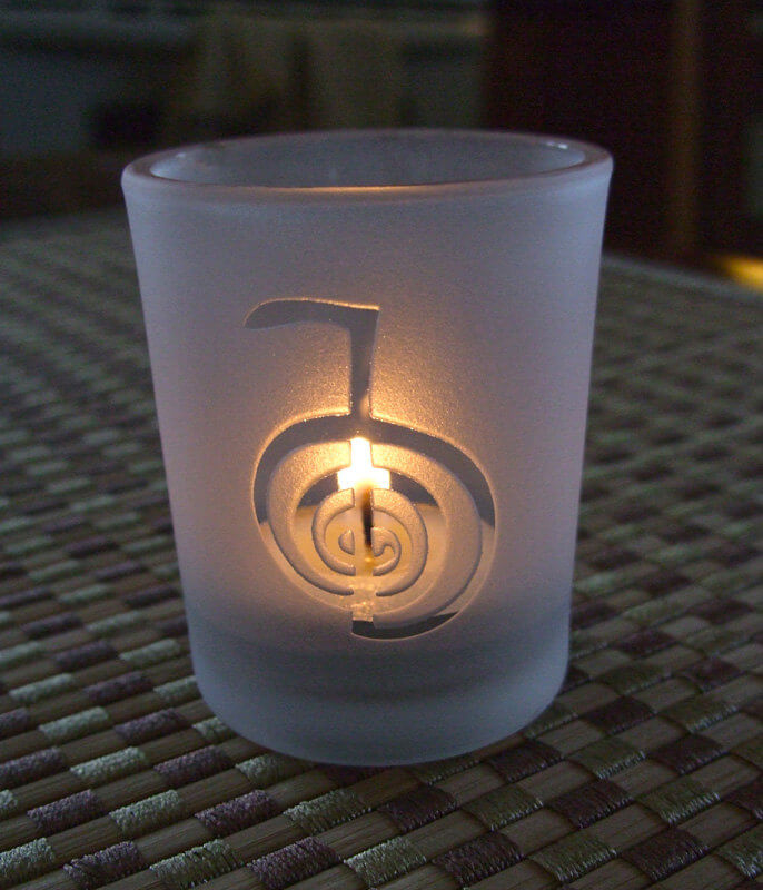 Empowering Engraved Reiki Symbol Votive Holder