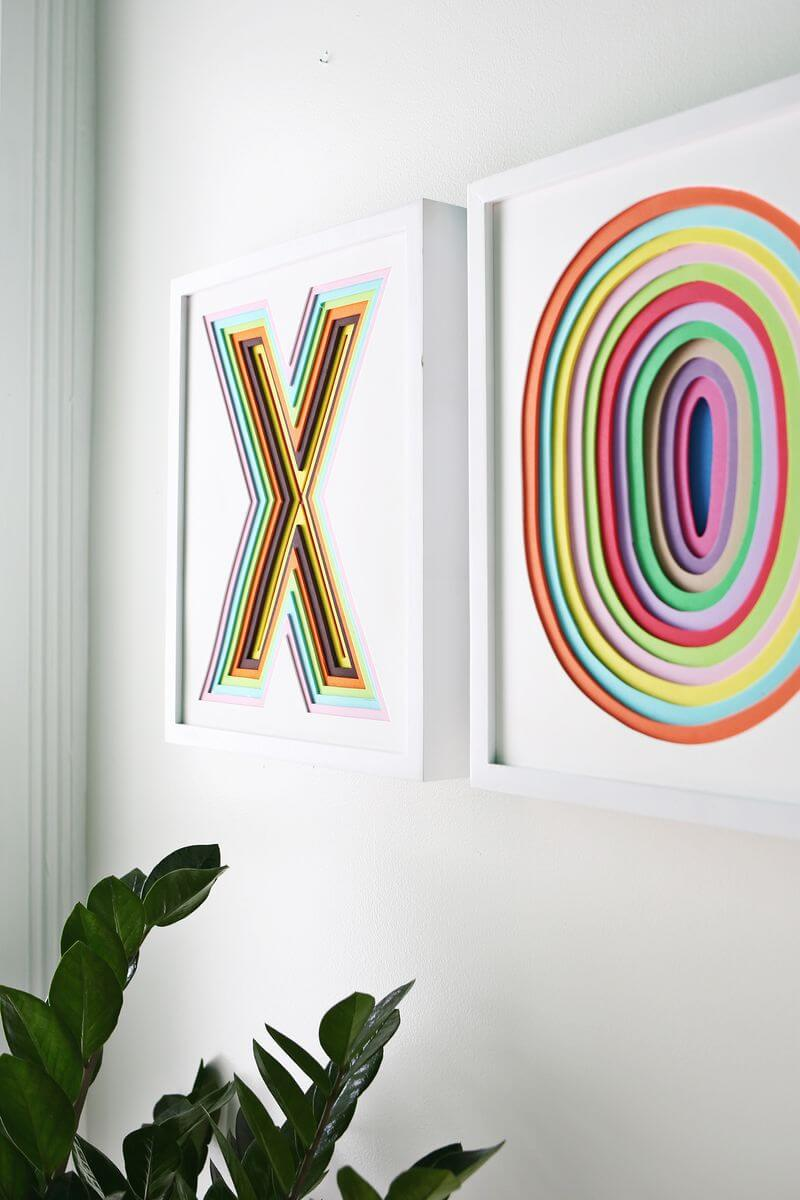 Layered Paper Letter Wall Art Project — Homebnc