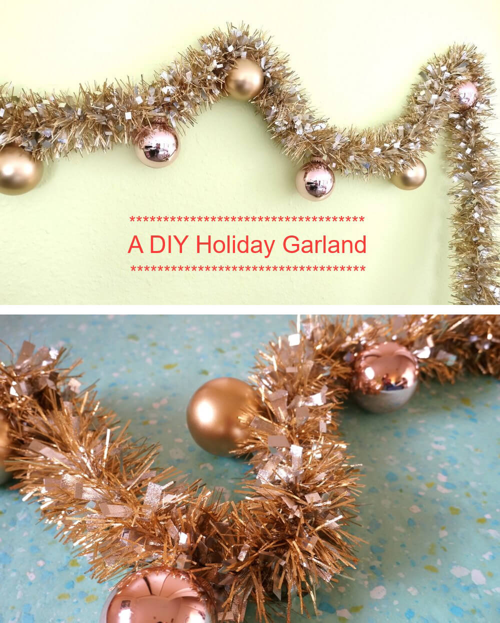 Make Your Own Glittery Holiday Garland