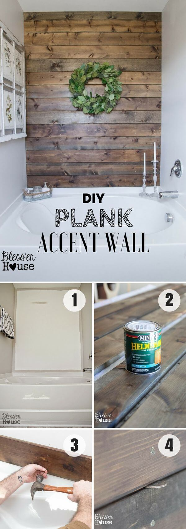 DIY Rustic Wood Accent Wall