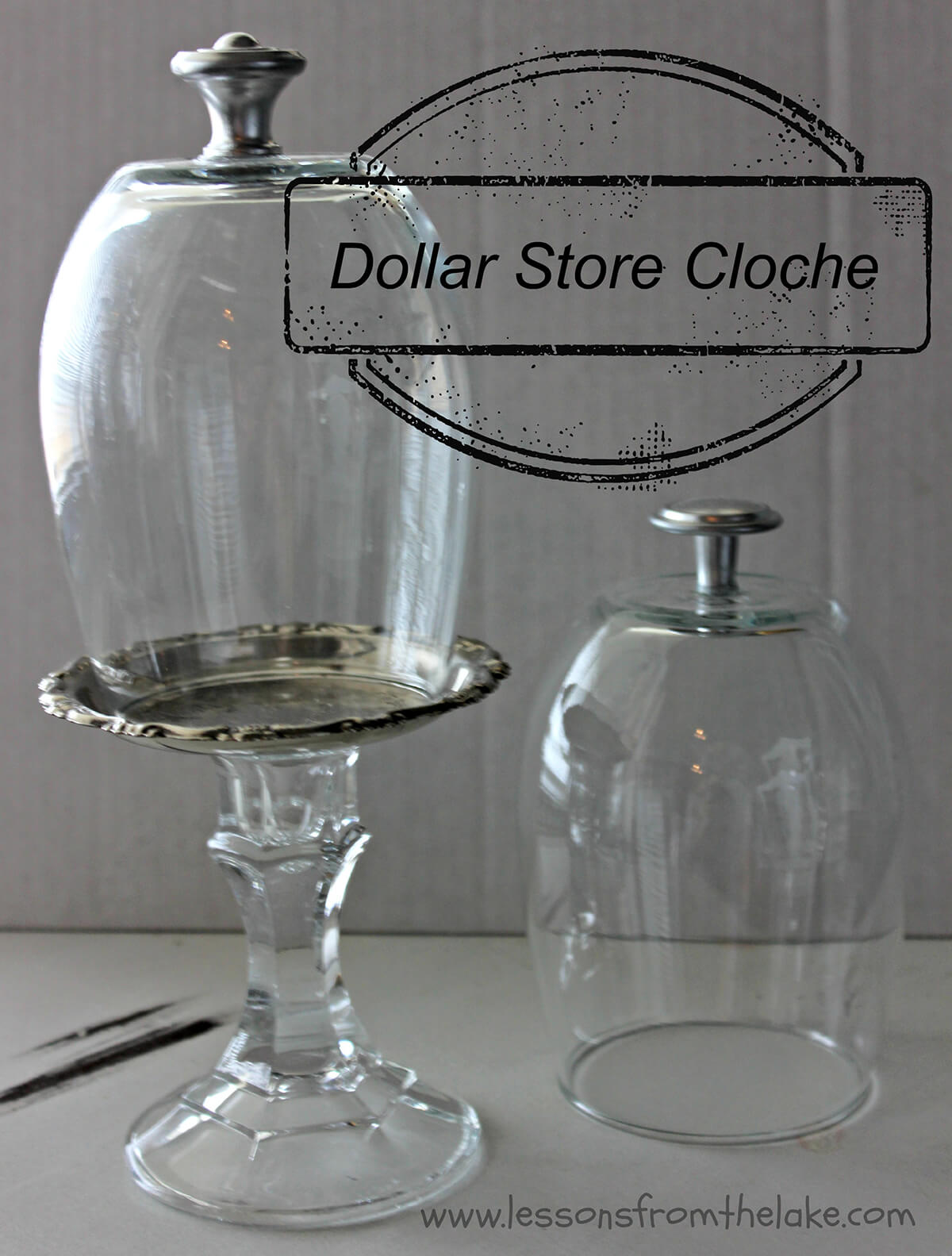 Wine Tumbler and Candlestick Cloche